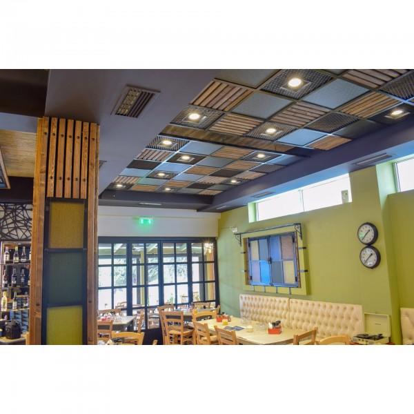 """Οροφή Μεταλλική Διακοσμητική στο """"BARBEQUE"""" Μεταμόρφωσης"""
